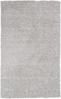 KAS Oriental Rugs Bliss Collection Shag Area Rug, 8' x 11', Ivory Heather