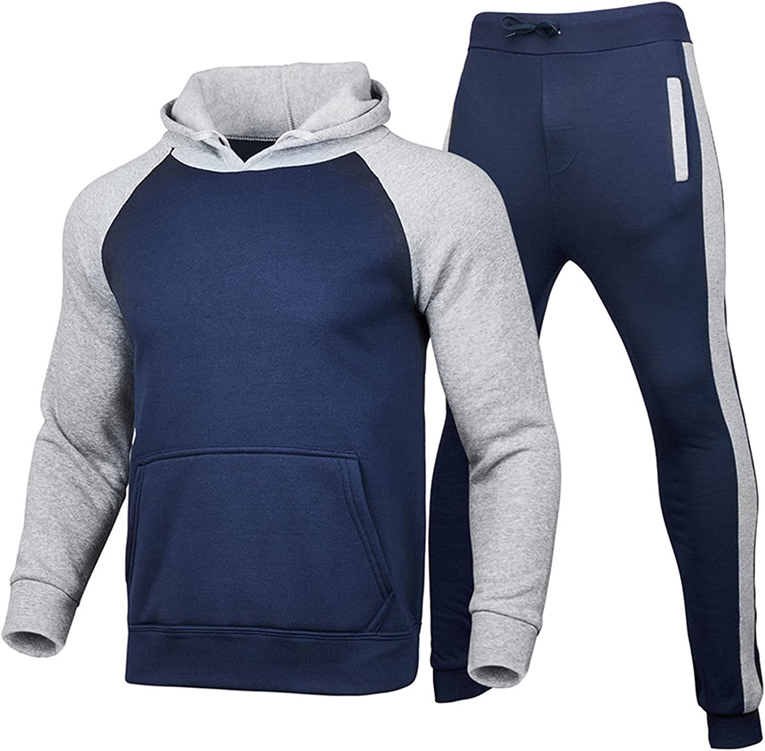 YingeFun 2 Be super welcome Piece Outfits for Raglan Sweatshirts Suit Very popular Sports Men