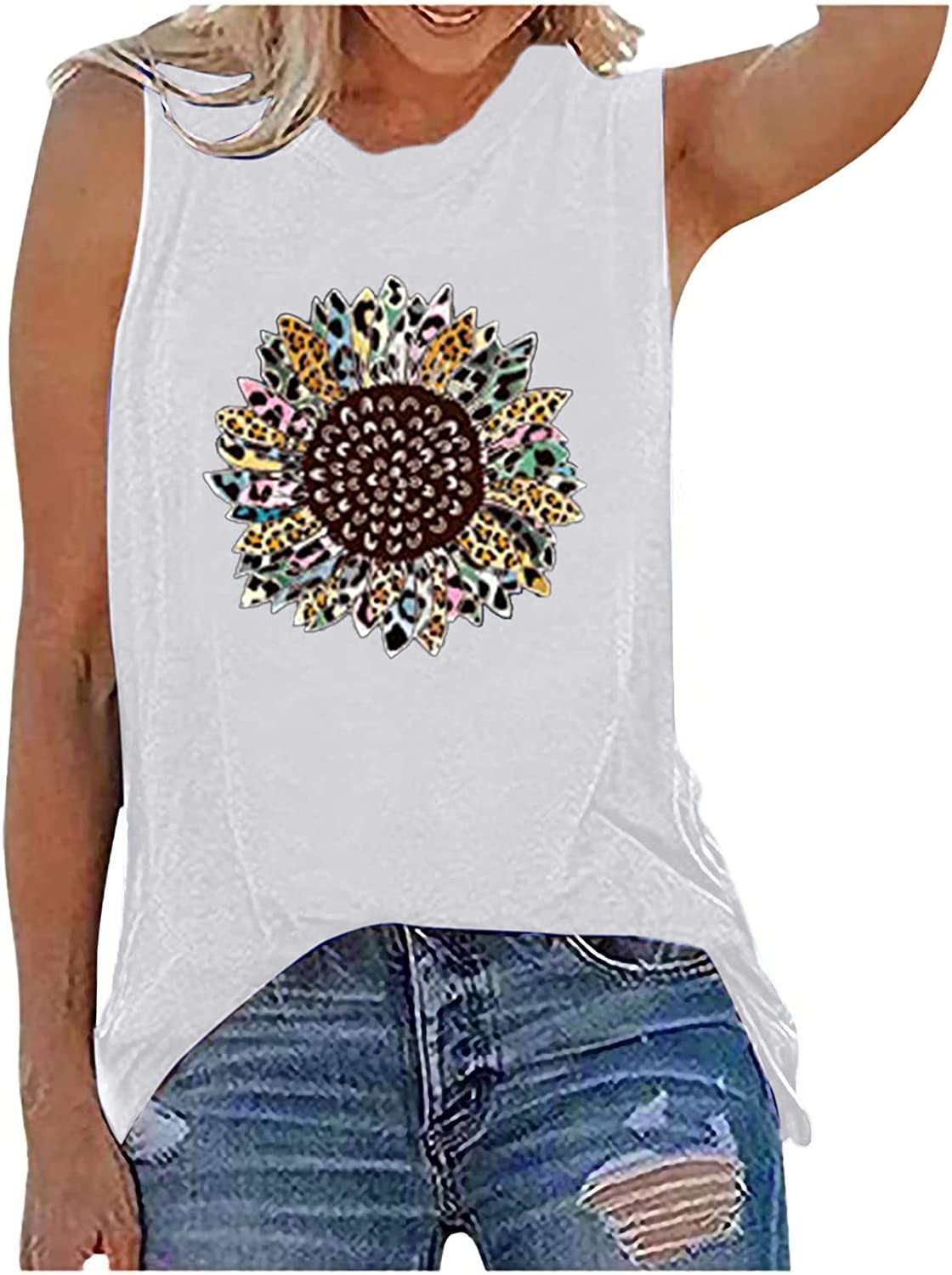 Recommendation Challenge the lowest price of Japan Womens Tank Tops Casual Sleeveless Loos Summer Graphic