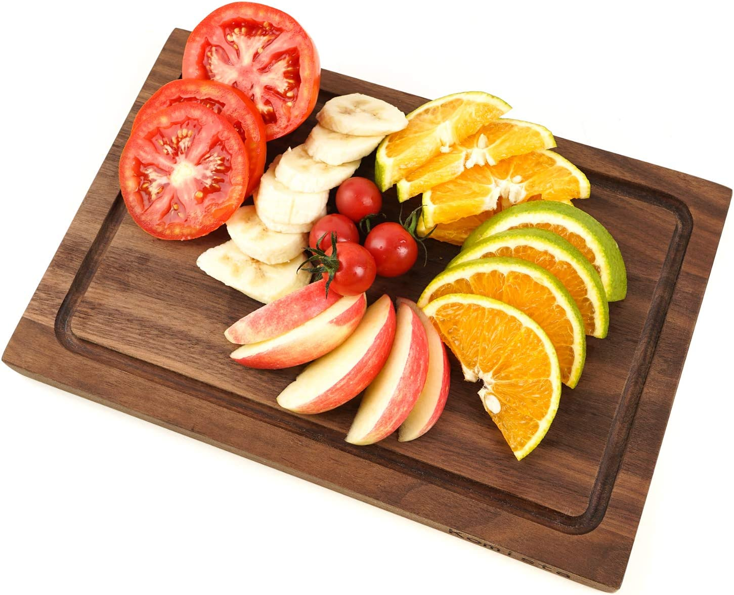 with Juice Groove Reversible by Komista 12 x 8 Inch, Cherry Small Cutting Board