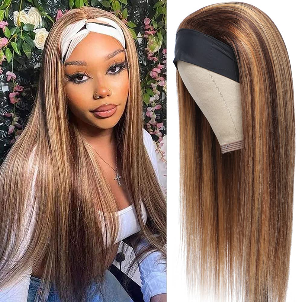 Ombre Blonde Headband Wig Human free Hair Women Black Lace Non Fr for Raleigh Mall