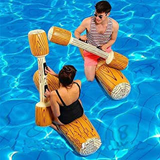 OKJ 2 Pcs Set Inflatable Floating Row Toys, Adult Children Pool Party Water Sports Games Log Rafts to Float Toys