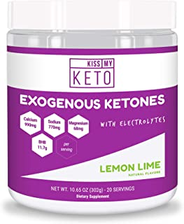 Kiss My Keto Exogenous Ketones Supplement - Electrolytes Powder Drink, Lemon Lime, GoBHB Salts Ketogenic Supplement, Beta Hydroxybutyrate, Increase Energy, Get Into Ketosis