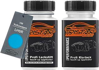 TRISTARcolor Autolack Lackstift Set für VW/Volkswagen LH5R Dänischblau/Danisch Blue Basislack Klarlack je 50ml
