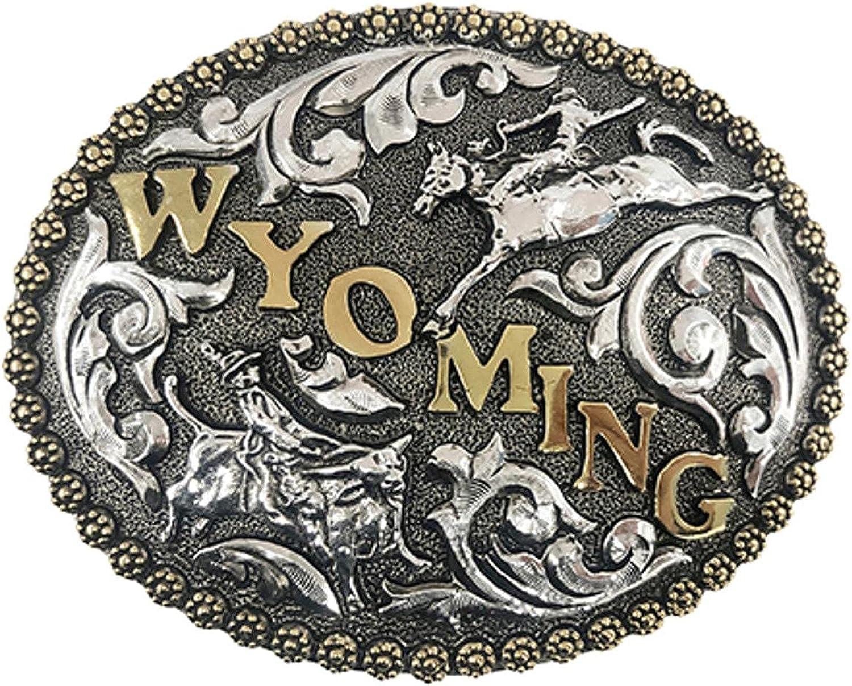 Cody James Men's Wyoming Weekly update Bronc And Co No Popular popular Riders Buckle Belt Bull