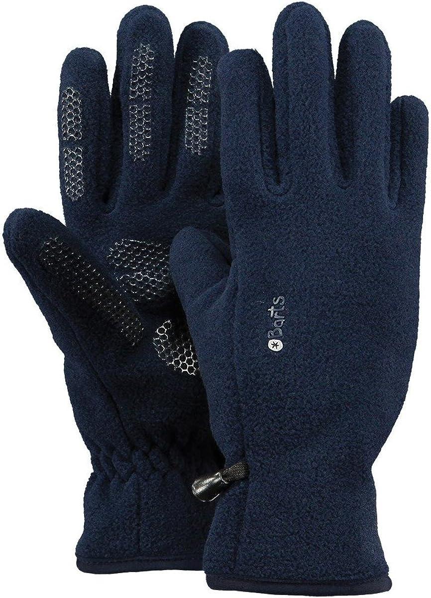 Barts Fleece Handschuhe Damen Herren Verlustsicherung warm grip Noppen navy blau