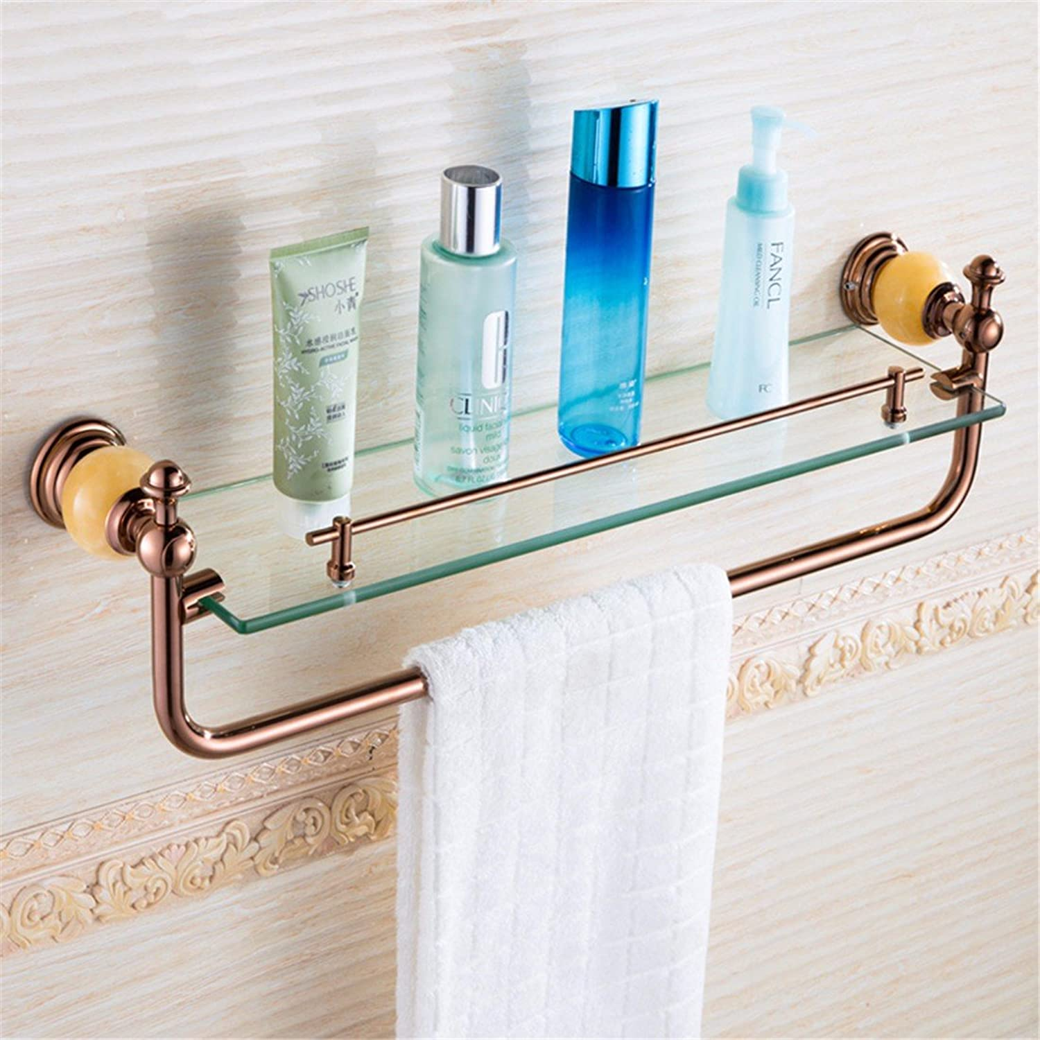 Continental antique jade pink gold Bathroom Wall is a built-in shelf toilet soap box, built-in shelf 1
