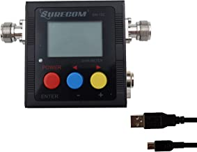 Gam3Gear Surecom SW-102S SO239 Connector Digital VHF UHF 125-525Mhz Power & SWR Meter with Ground Plate