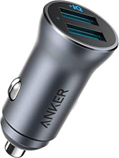 Anker PowerDrive II 2-poorts 24 W Alloy, USB-autolader, 24 W metalen oplader, ondersteunt 22,5 W Huawei high-speed oplade...