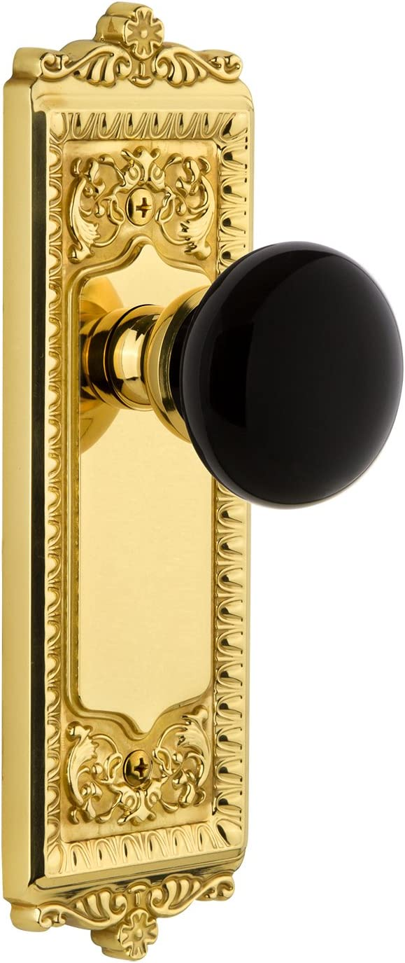 Grandeur Hardware 852619 Windsor Plate Coventry Passag Knob with Online limited Minneapolis Mall product