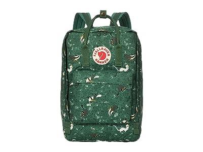 Fjallraven 17 Kanken Art Laptop (Green Fable) Backpack Bags