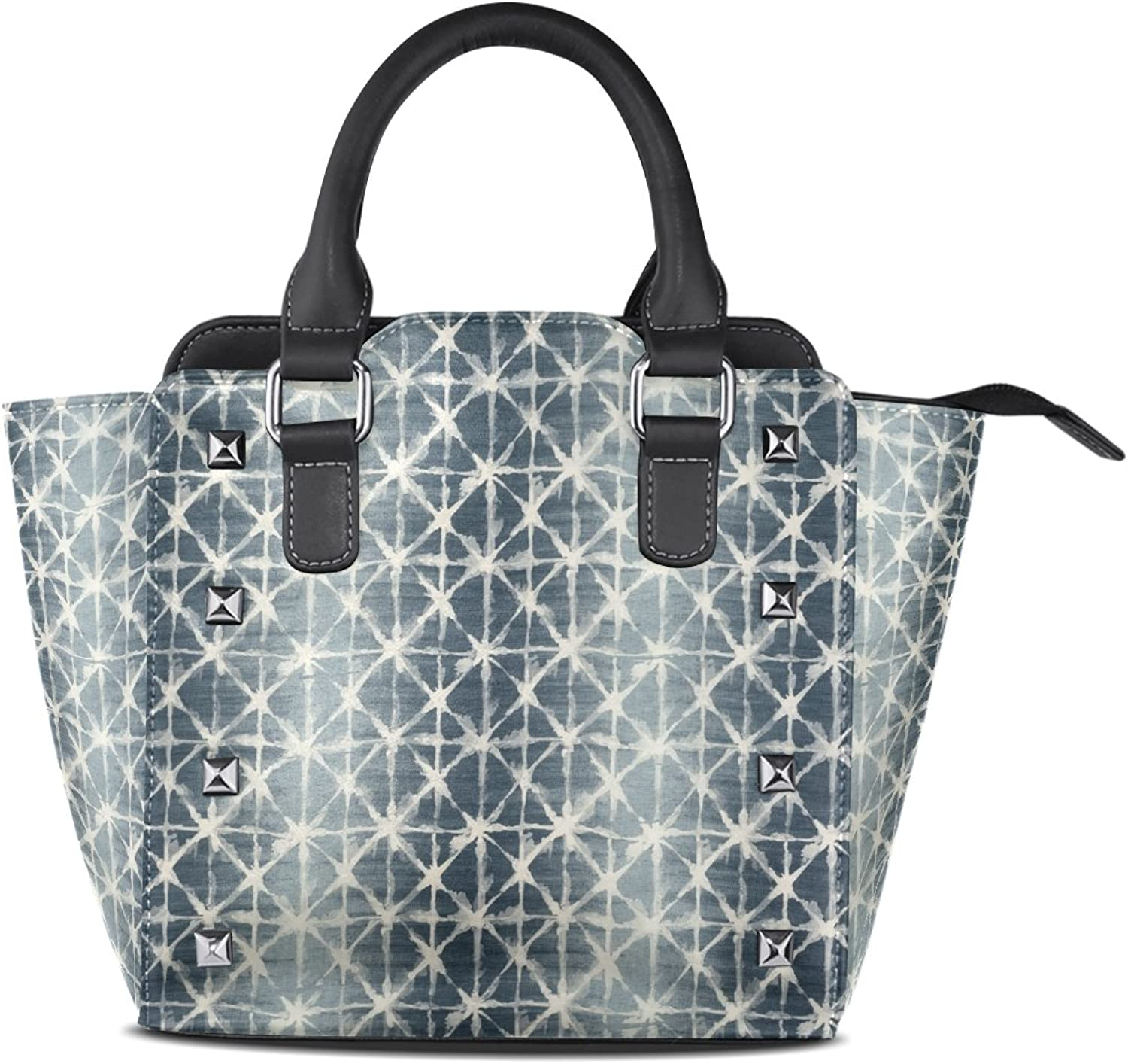 Sunlome Geometry Print Women's Leather Tote Shoulder Bags Handbags