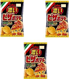 コンビニー限定 2020年秋 カルビー Calbee ピザポテト濃い ガーリック・トマト・サラミ風味がアップ!! PIZZA POTATO ポテトチップス 66gx3個 食べ試しセット