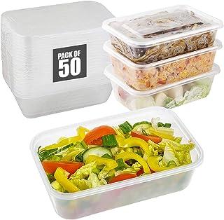 Contenants de conservation des aliments avec couvercles hermétiques, sans BPA, réutilisables, micro-ondes, congélateur et ...