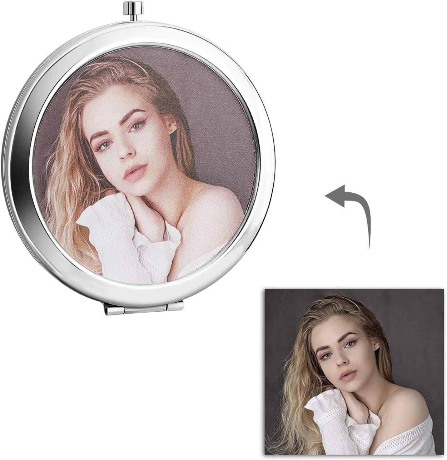 Personalized Photo Make-up Mirror for Shipping included Mirro Compact Industry No. 1 Custom Women