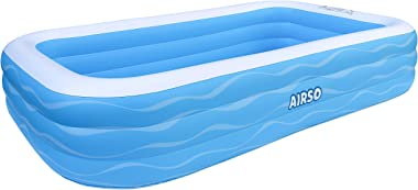"Inflatable Swimming Pool Family Full-Sized Inflatable Pools 118"" x 72"" x 22"" Thickened Family Lounge Pool for Toddlers, Kids"
