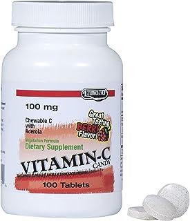 Landau Vitamin C Chewable 100 Mg, Great Tasting, 100 Chewable Tablets