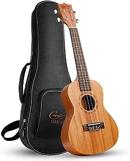 Ukelele Hricane Concert Ukulele 23inch Professional Mahogany Ukele Hawaiian Uke UKM-2 Pack with Gig Bag