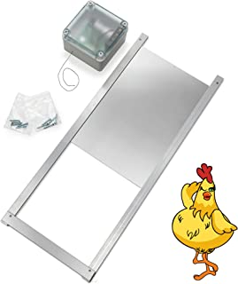Happy Henhouse Automatic Chicken Coop Door Opener Kit for Coops, Cages and Runs, Solar, Timer or Actuator, Poultry (Solar)
