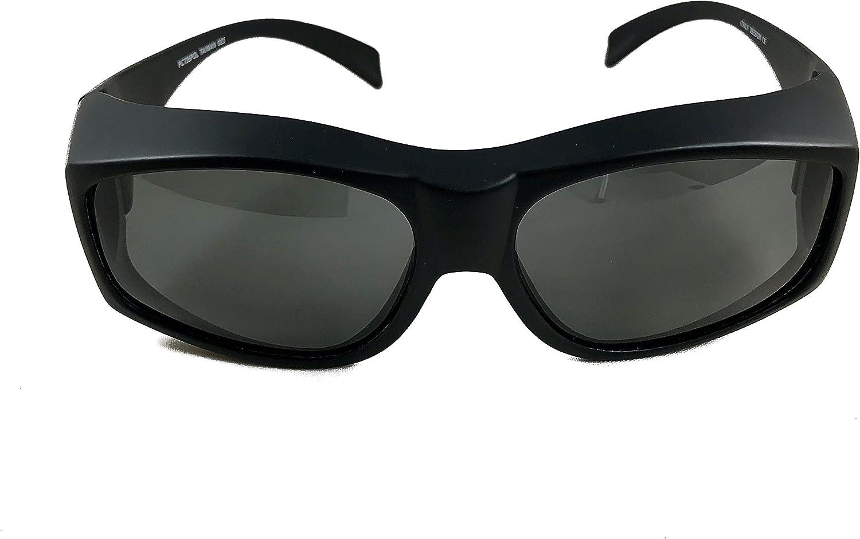 Black fitover polarized sunglasses for Men and Women   Wear over Prescription RX Glasses