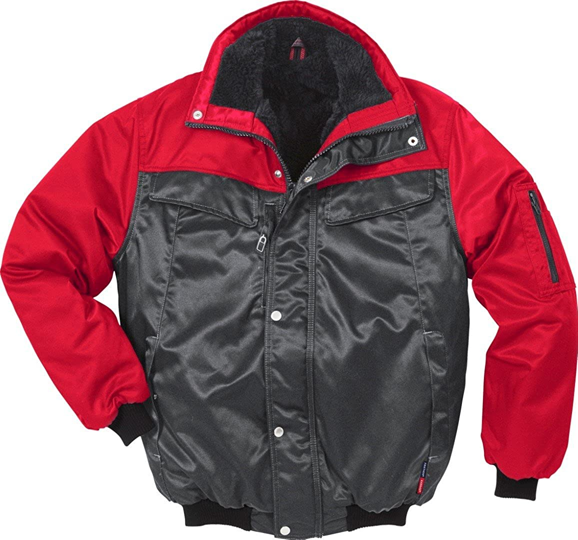 Fristads Kansas Workwear 100809 Pilot Jacket Grey/Red 3XL