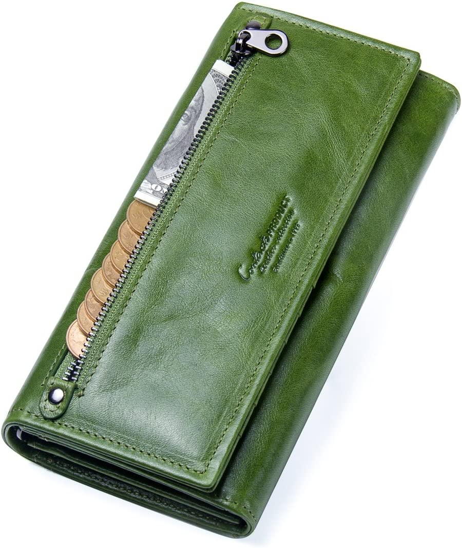 Contacts 70% OFF Outlet Lady Real Leather lowest price ID Card Holder Clutch Coin Purs Phone