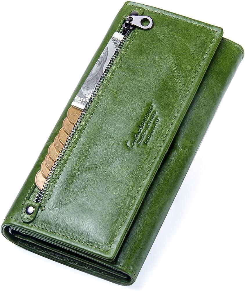 contacts portafoglio porta carte di credito in pelle per donna 2.3