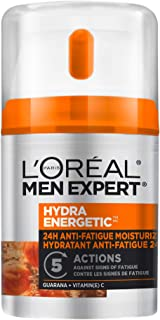 L'Oreal Paris Men Expert Hydra Energetic Face Cream , 24H Non-greasy Face Moisturizer for Men, with Vitamin C For Dry and ...
