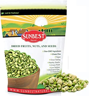 SUNBEST NATURAL Wasabi Peas in Resealable Bag, Kosher Certified 15 Ounce