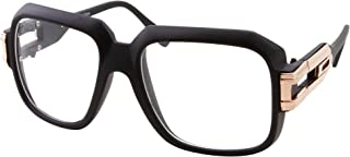 Large Oversized Hip Hop Gold Clear Lens Glasses - Men Women Costume Or Fashion