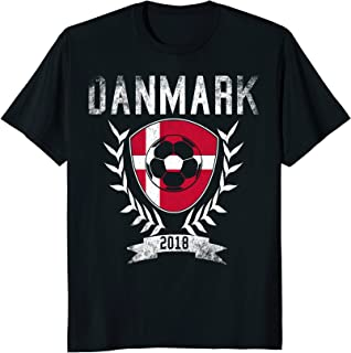 Danmark Football Cup 2018 T-Shirt - Danish World Soccer Jers