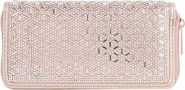 Girly Handbags Diamante Perlen Clutch mit Reißverschluss