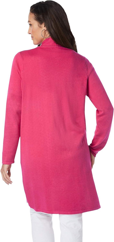 Jessica London Women's Plus Size Fine Gauge Cardigan Topper Sweater