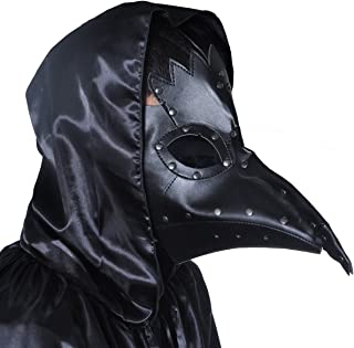 WESTLINK Plague Doctor Mask Birds Long Nose Beak Faux Leather Steampunk Halloween Costume Props