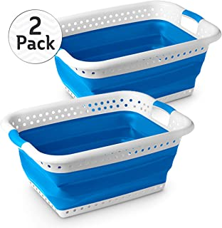 Stylin' Home 2-Pack Plastic Collapsible Laundry & Storage Basket