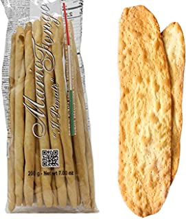 Mario Fongo Bundle - [1] Grissini Rubata Large Italian Breadsticks (200g) + [1] Large Lingue di Suocera Mother-In-Law's Tongues Flatbreads (150g) | Imported from Italy (2 Items)