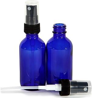Vivaplex, Cobalt Blue, 4 oz Glass Bottles, with Black Fine Mist Sprayers - 2 pack …