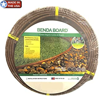 One Stop Outdoor USA Made - Landscape Edging, Garden Planter & Pathway Bender Board Edge Border Kit - Thick Heavy Duty Pro-Grade Style Terrace Board 3.3