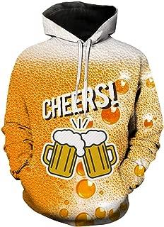 DONTAL Beer Festival Men's Casual Long Sleeve Happy 3D Printing Hoodies Sweatshirt