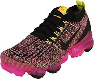 Nike Womens Air Vapormax Flyknit 3 Running Trainers AJ6910 Sneakers Shoes (UK 3 US 5.5 EU 36, Black Pink Blast 006) 006