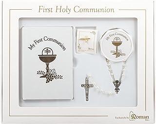 اولین مجموعه هدایای مقدس برای دختران با کتاب دعاهای مشترک ، تسبیح ، جعبه و پین