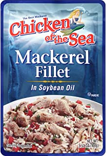 fresh catch mackerel in soybean oil