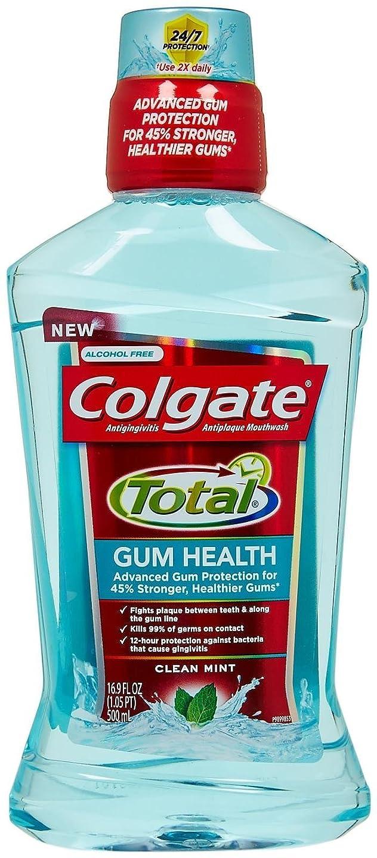 教え仮定、想定。推測和Colgate ガム健康うがい薬 - 16.9オズ - クリーンミント 1パック