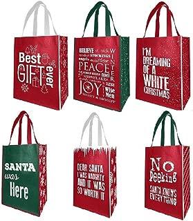 holiday reusable shopping bags