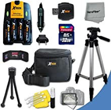 Ultimate Accessory Kit for Canon Powershot A720 IS, A710 IS, A2100 IS, A2000 IS, A1400 , A1300 , A1200 , A1100 IS , A1000 IS, A810, A800, SX3 IS, A700, A650, A640, A630, A620, A610, A570 IS, A560, A550, A540, A530, A520, A510 Digital Cameras Includes 4 AA High Capacity 3100mAh Rechargeable Batteries with Quick AC/DC Charger + 32GB High Speed Memory Card + Universal Card Reader + Water Resistant Padded Case + Full Size Pro 50 Inch Tripod + Mini Table Tripod + Memory Case Holder + Screen Protectors + Deluxe Cleaning Kit + Ultra Fine HeroFiber Cleaning Cloth
