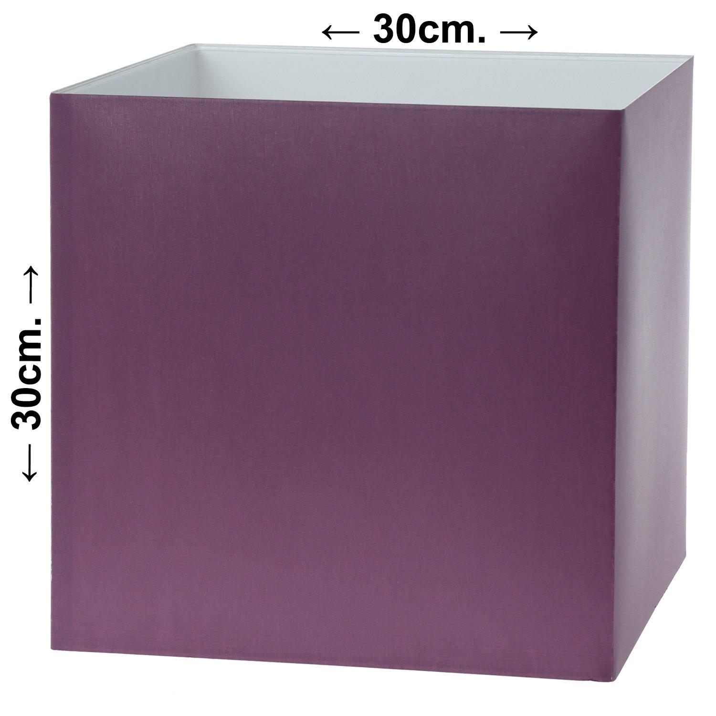SuskaRegalos-Pantalla Lámpara Cuadrada Violeta 30x30x30cm(percal ...