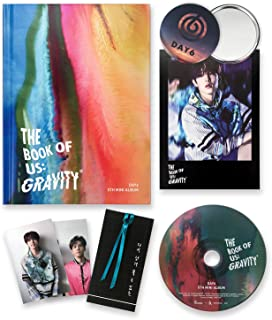 DAY6 5th Mini Album - The Book Of Us : Gravity [ MATE ver. ] CD + Photobook + Photocards + Postcard + Bookmark + FREE GIFT...
