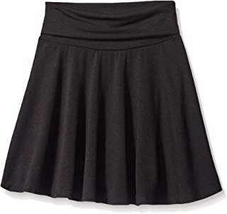 Amy Byer Girls' Big Size 7-16 Knit Skater Skirt with Foldover Waist