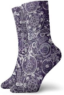 Luxury Calcetines de Deporte Mystic Occult Pattern Unisex Socks, All-Season Casual Comfortable Soft Ankle Socks Crew Socks