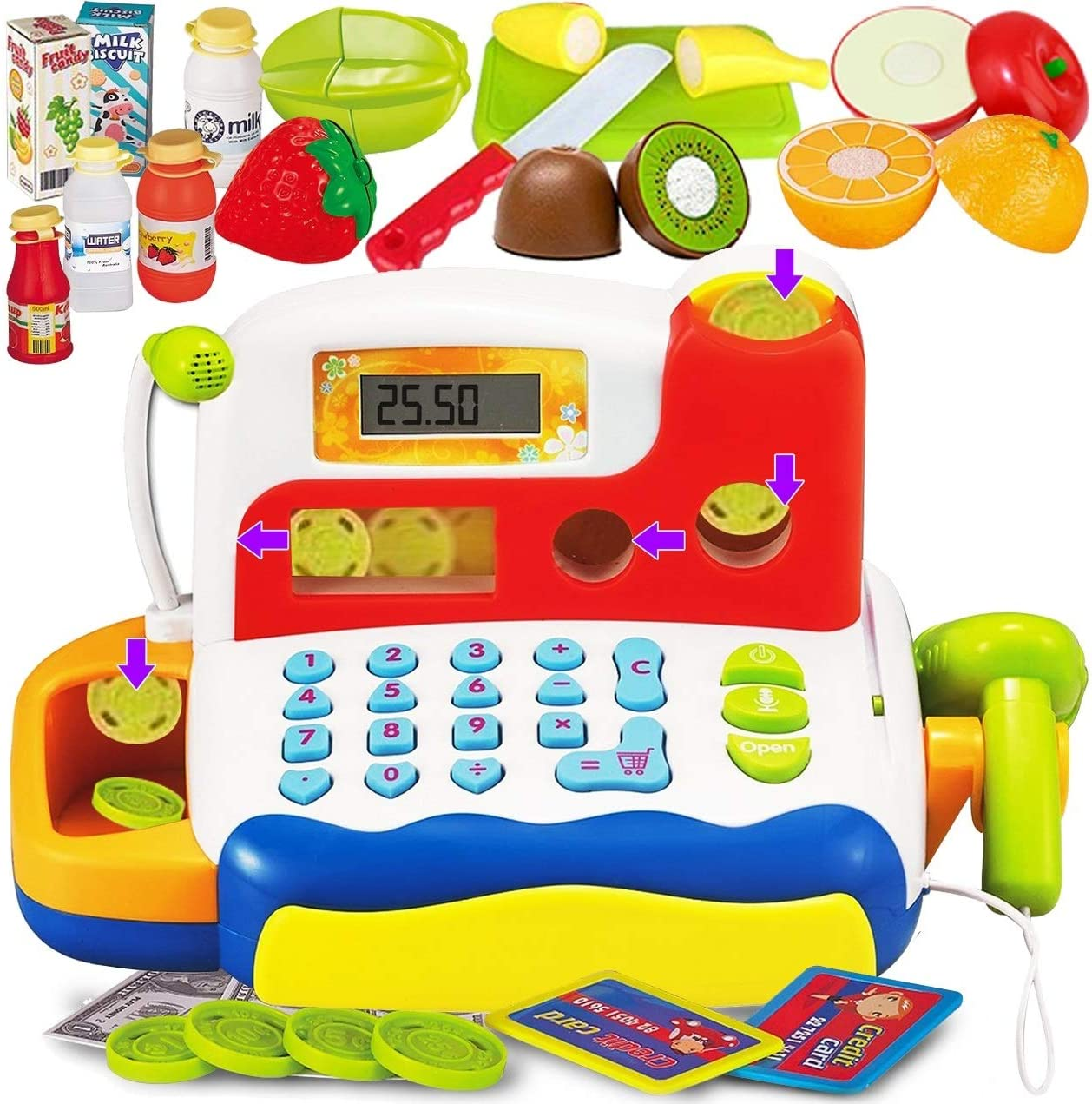 FUNERICA Durable Cash Register Toy Kids Ranking TOP4 High quality with So Electronic for